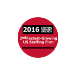 2nd Fastest Growing Staffing Firm