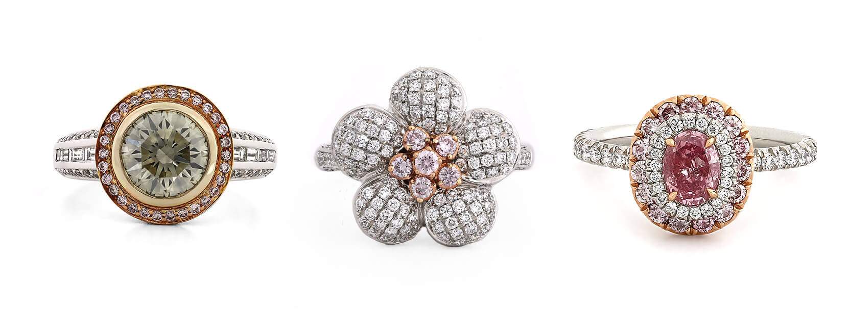 custom colored diamond rings