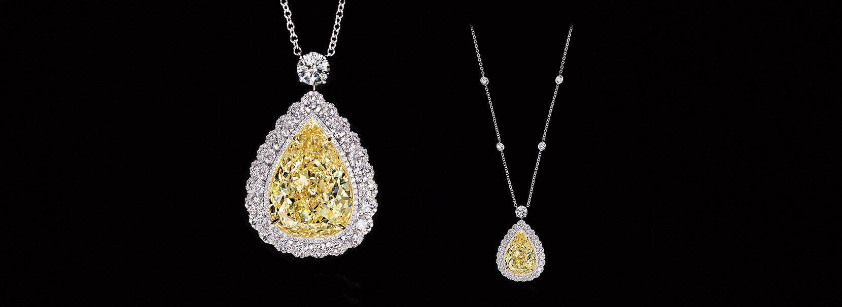 diamond necklaces by Diamante atelier