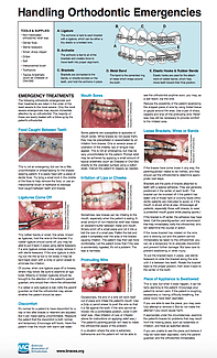 Handling Orthodontic Emergencies